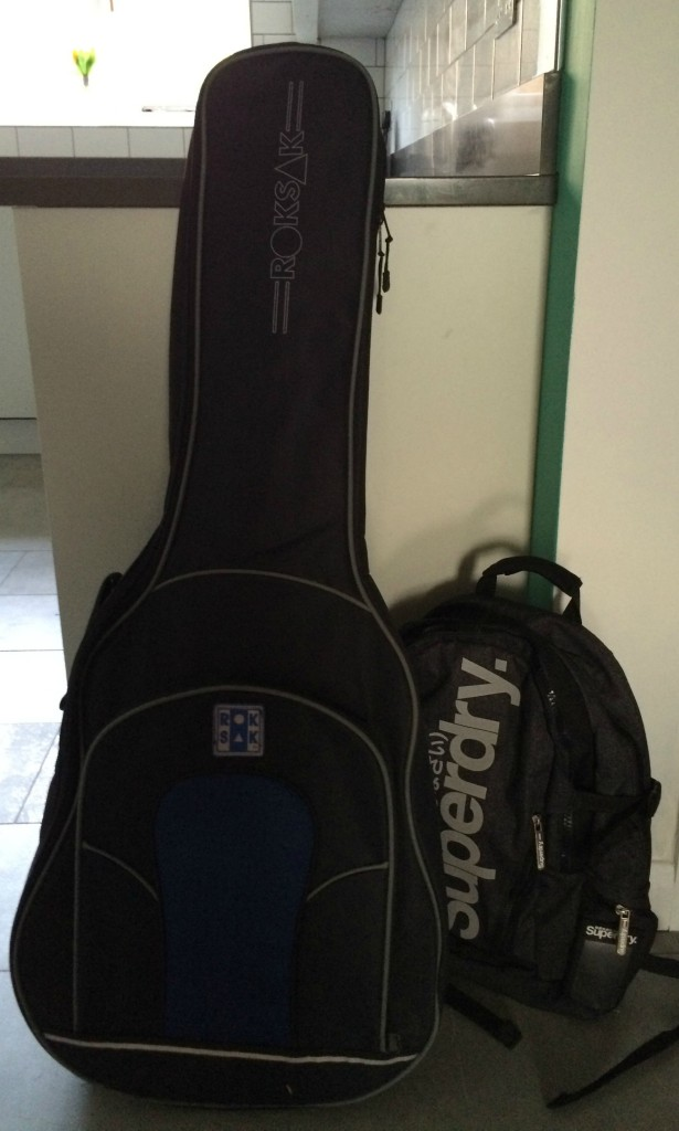 Starting school, Secondary school, Son, School bag, Guitar