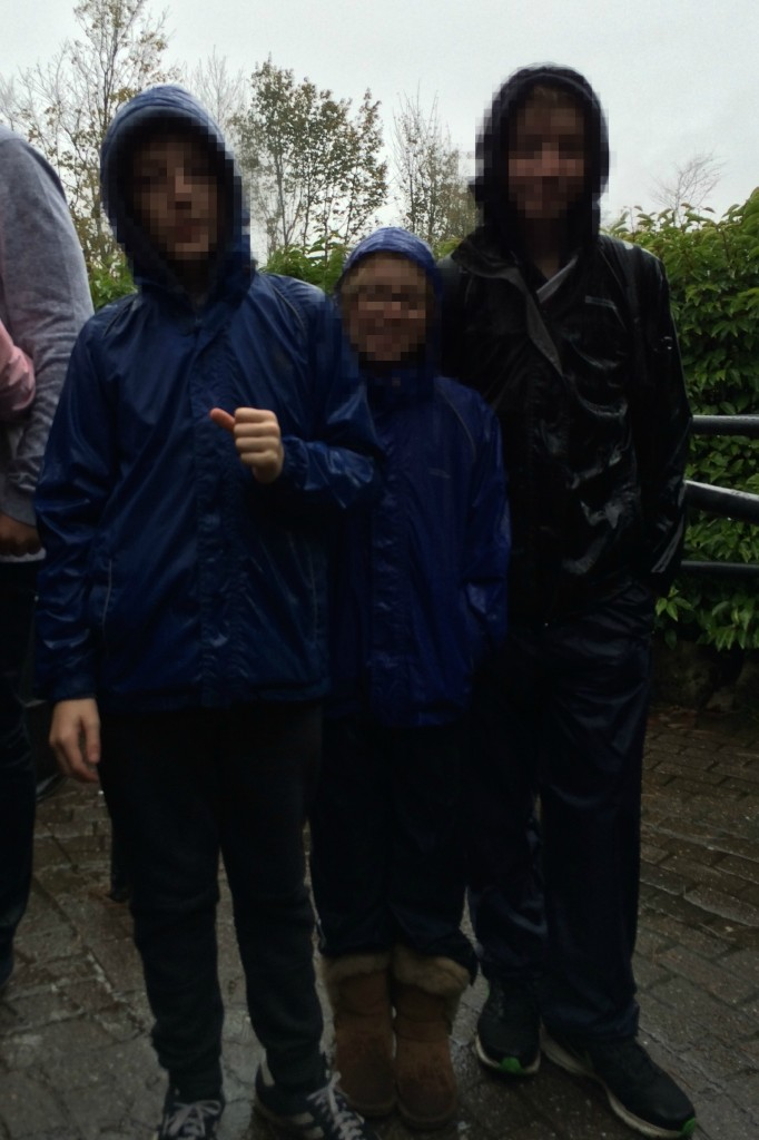 Rain, Alton Towers, Kids, Oblivion