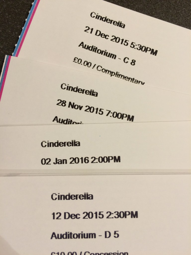 Tickets, Panto, Pantomime, Daugther, 365