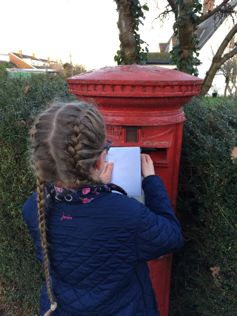 Daughter, Christmas cards, Postbox, 365