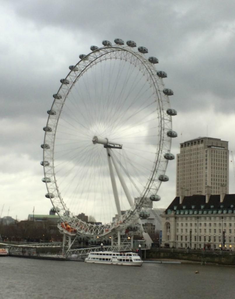 London, London Eye, River Thames, Boxing Day