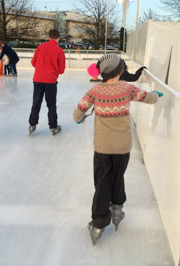 Ice skating, Daughter, Son, Silent Sunday, My Sunday Photo
