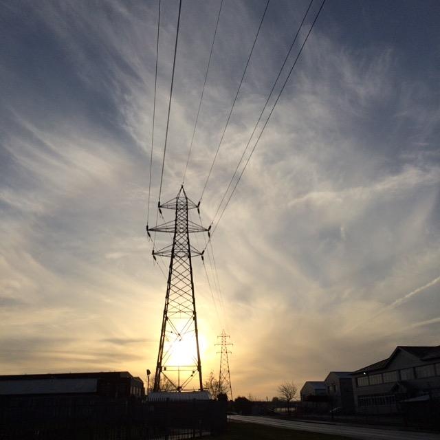 Pylon, Sunrise, Sky, 365, 366