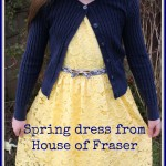 What she wore: Yellow dress for spring from House of Fraser