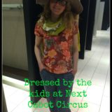 Dressed by the kids at Next, Cabot Circus