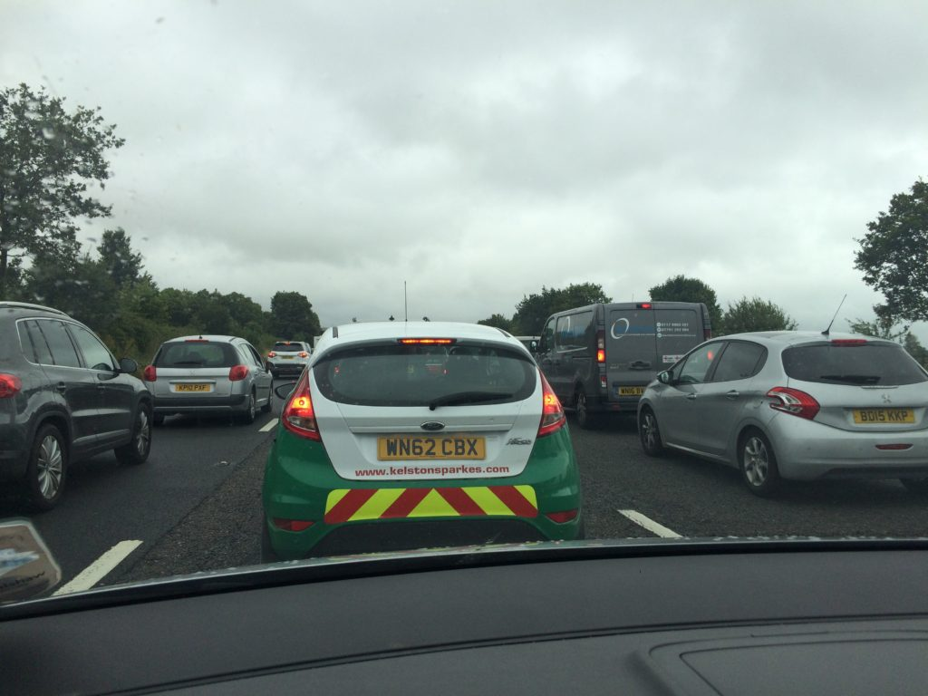 Traffic jam, M5, Holiday, 365, 366