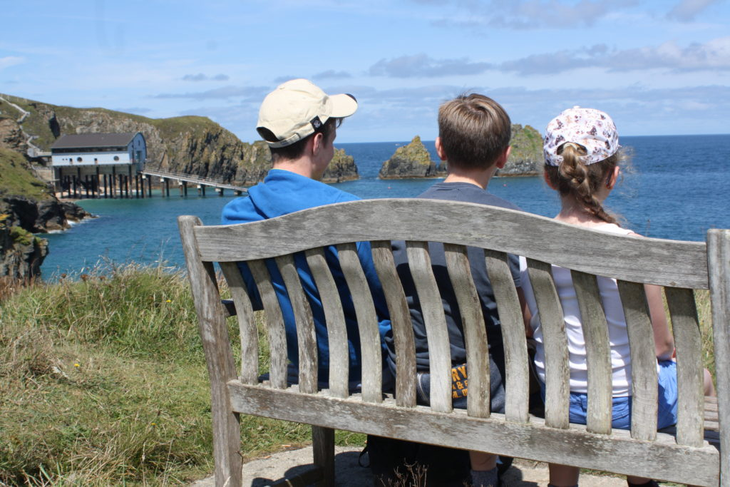 Sons, Daughter, South West Coast Path, Cornwall