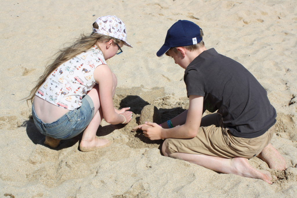 Son, Daughter, Beach, Holiday, Cornwall, 365, 366