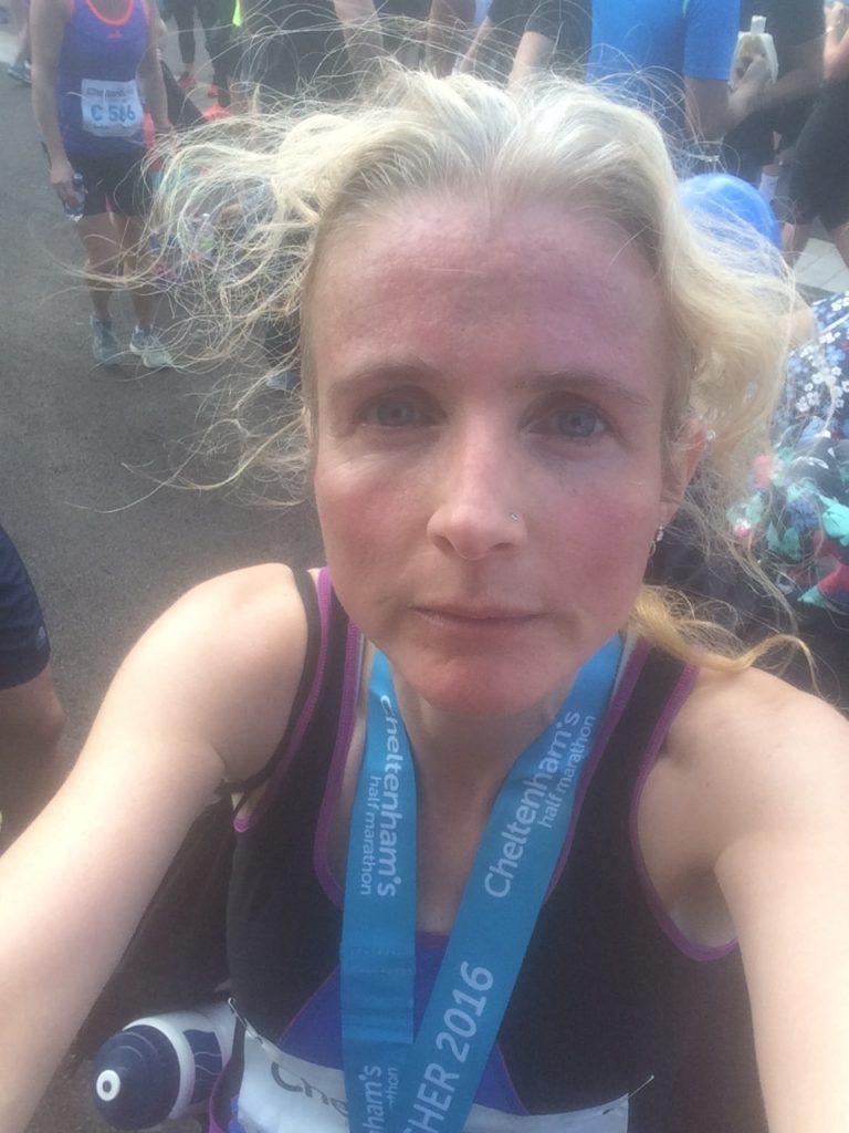 Cheltenham half marathon, Half marathon, Selfie
