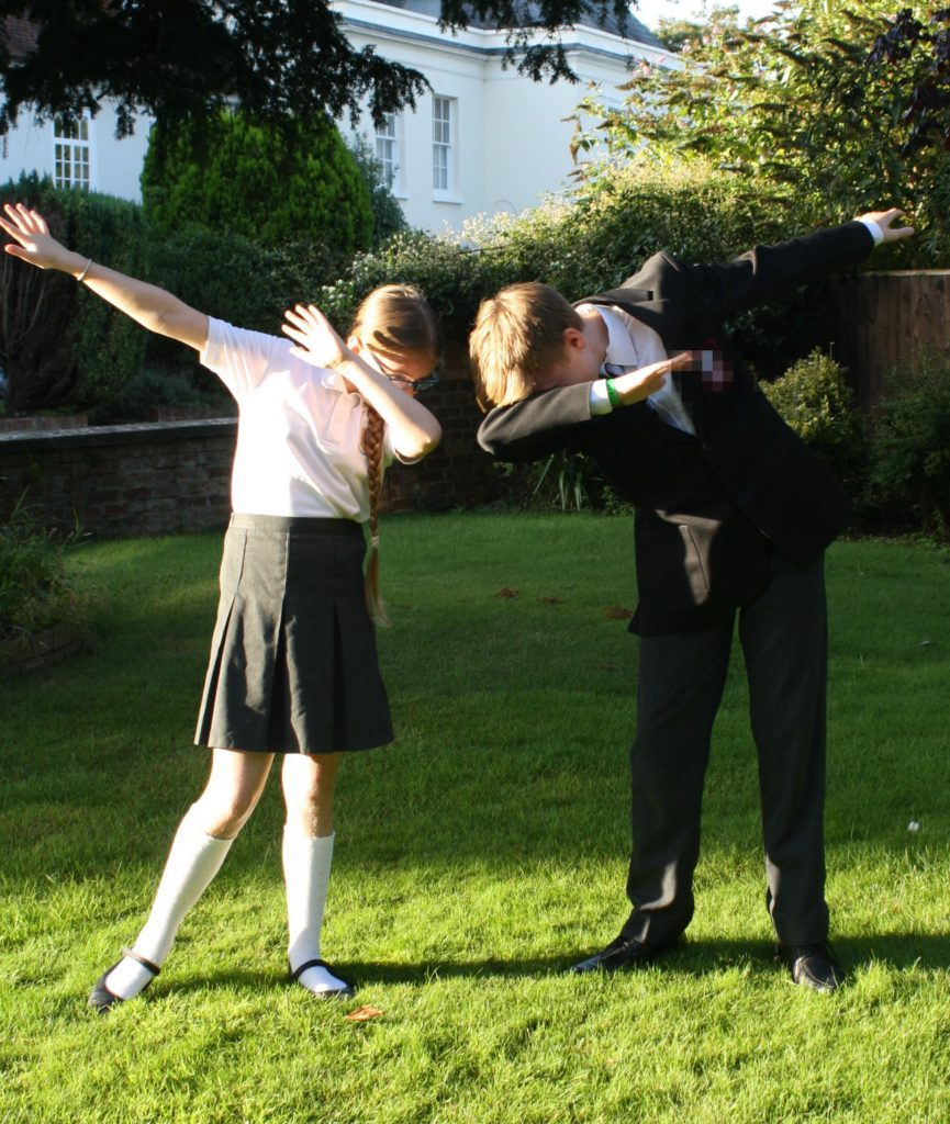 Back to school, Son, Daughter, Dab, Silent Sunday, My Sunday Photo