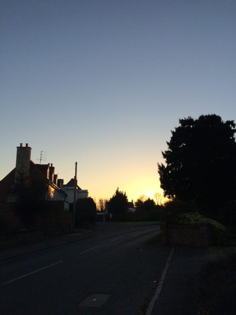 Sunset, Silhouette, Winter, 365, 366