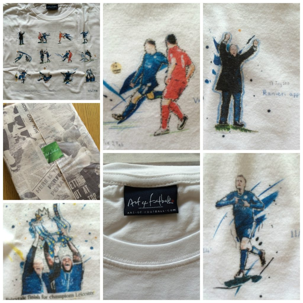 Art of Football, Art of Football Tshirt, Art of Football review, Leicester City