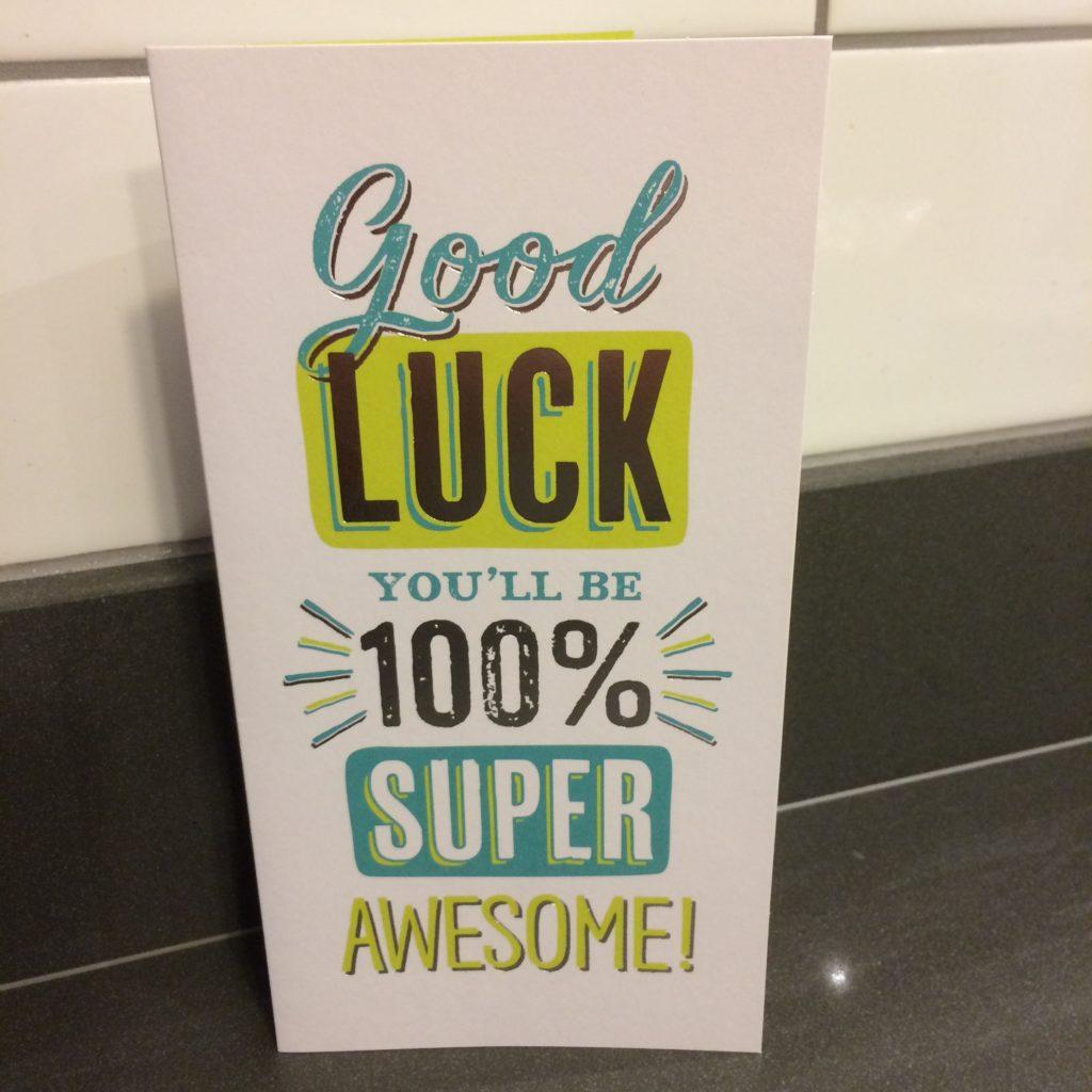 Good luck card, Daughter, Panto, 365, 366