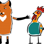 My kids – the fox, the chicken and the grain