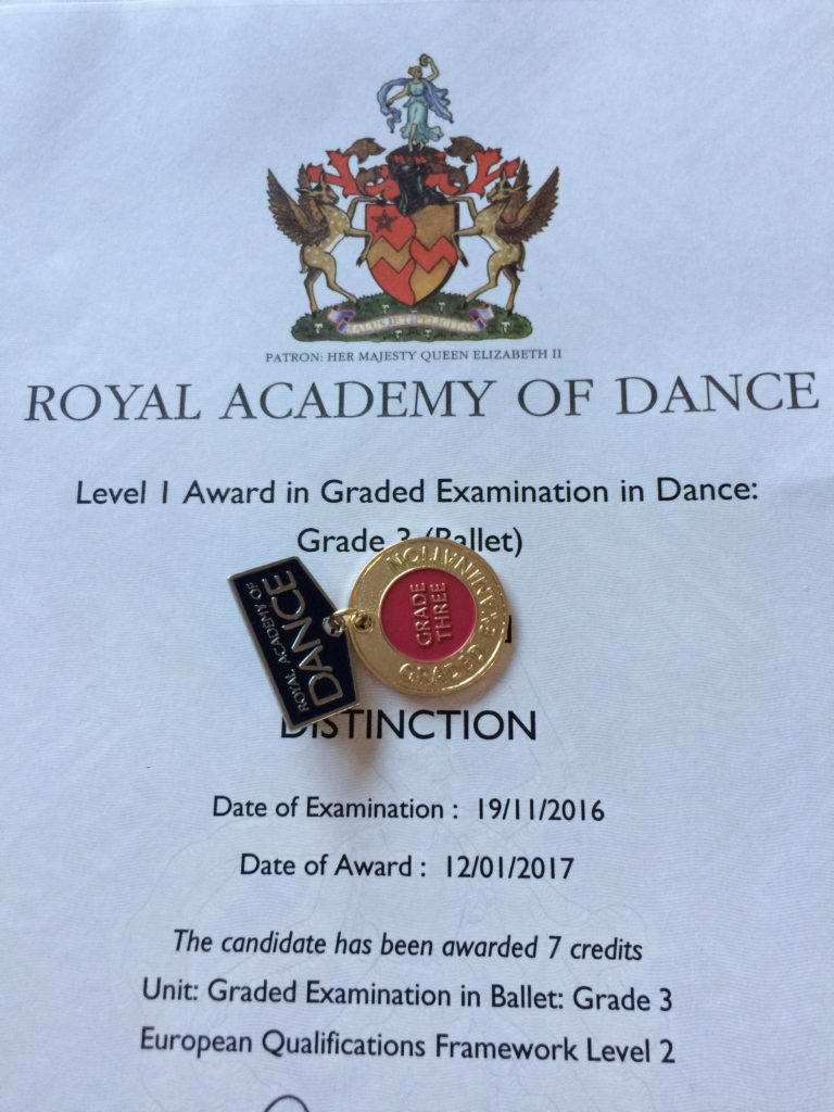 Grade 3 ballet, Grade 3 ballet exam, Grade 3 distinction