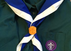 Being invested as a Scout