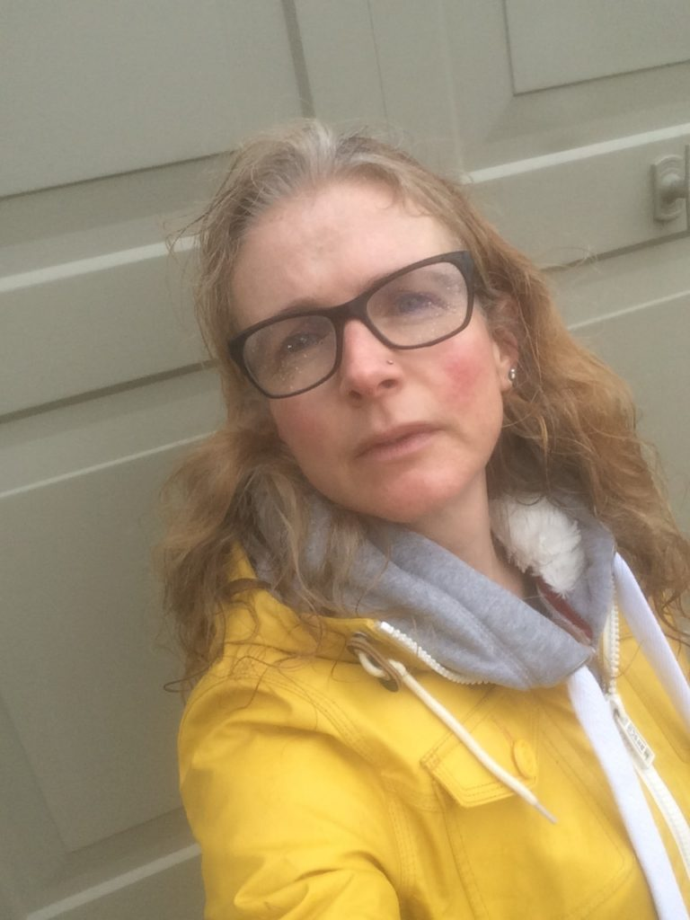 Yellow coat, Selfie, 365