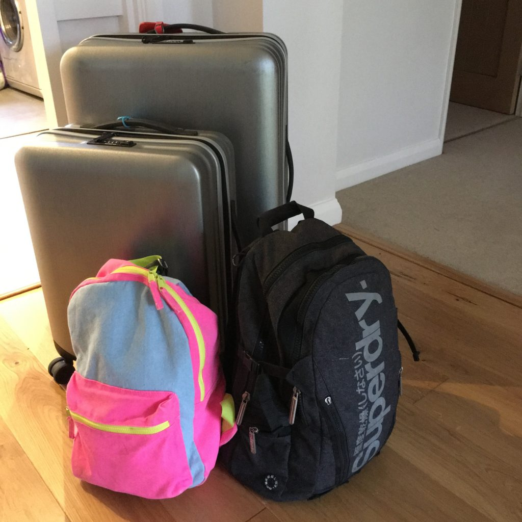 Suitcases, Packing, Son, Daughter, School residentials, The school residentials and the quiet house