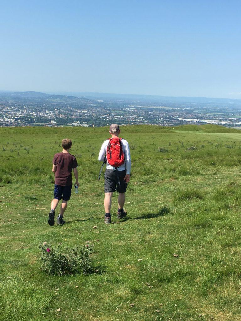 Walking, Climbing, Hill, Husband, Son, 365