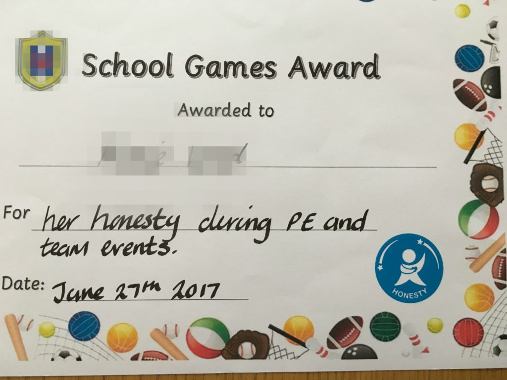 Certificate, Award, Sports day, Daughter, 365