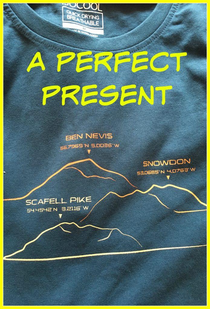 A perfect present, Husband, Son, Wedding anniversary, Three Peaks