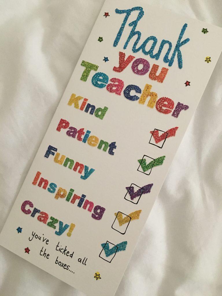 Thank you teacher, Card, Leaving school, 365