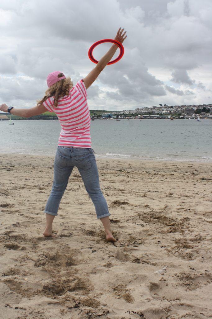 Frisbee, Beach, Cornwall, Rock, 365