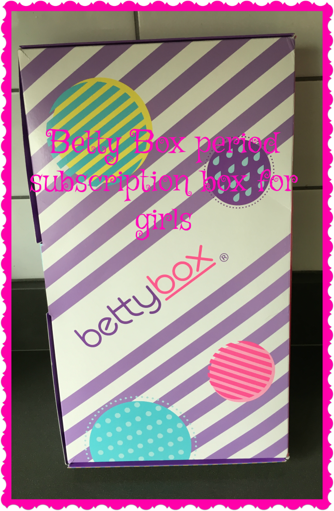 Betty Box period subscription box, Betty Box for girls, Betty Box review, Periods, Teenagers, Girls