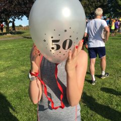 My daughter's 50th Parkrun