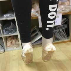 Getting the first pointe shoes