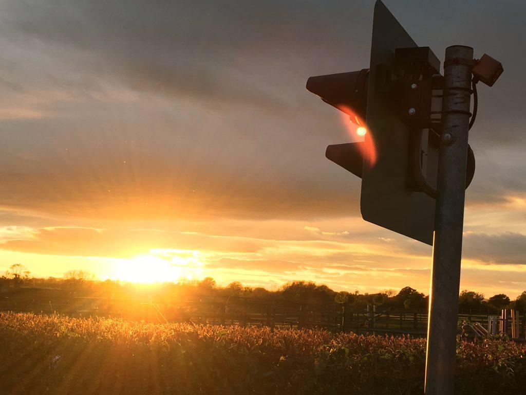 Sunset, Railway, Silent Sunday, My Sunday Photo