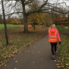 Walking the Parkrun (like a dog with a cone on its head)