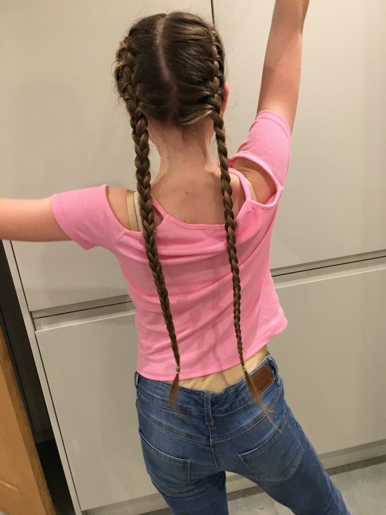 Daughter, Panto, Hair, Plaits, The panto - opening night!