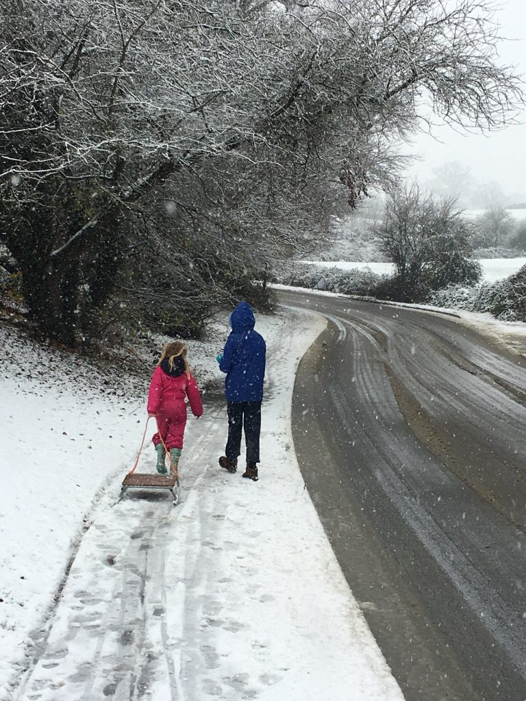 Daughter, Niece, Sledging, Snow, Cousins, 365