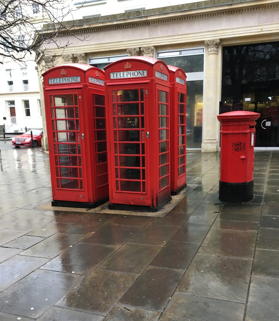 Red phone boxes, Silent Sunday, My Sunday Photo, Cheltenham