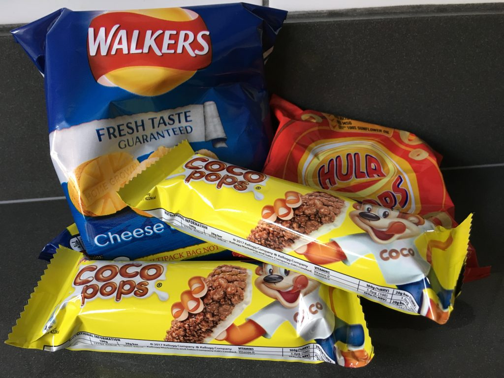 Crisps, Coco Pop bars, Snacks, Daughter, My daughter fainting and the poor diet
