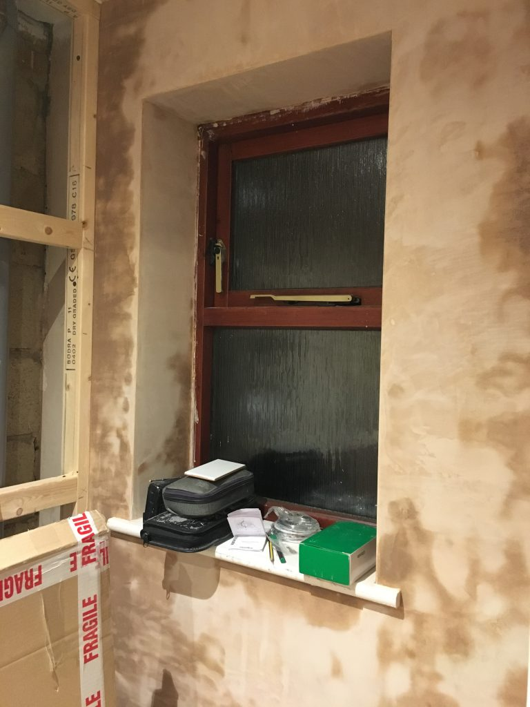 New bathroom, Window, Ensuite, Plastering