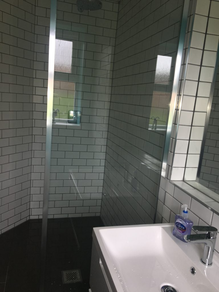 Shower, New bathroom, Bathroom, Sink, Ensuite, The new ensuite bathroom