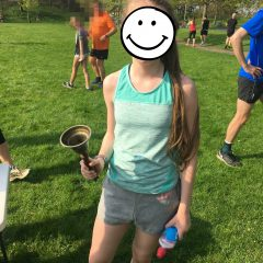 My daughter and the parkrun PB