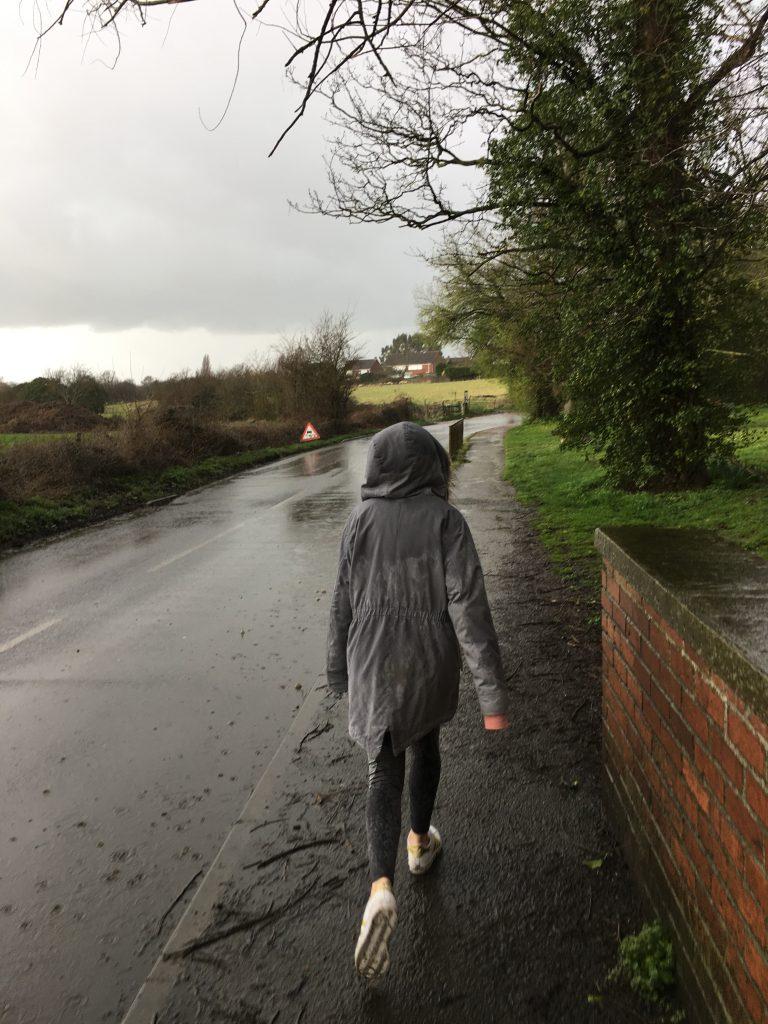 Daughter, Walking, Rain, 365