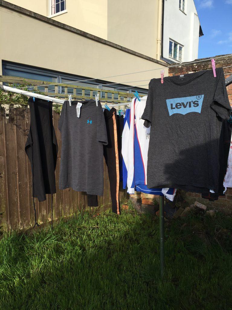 washing line, washing, spring, 365