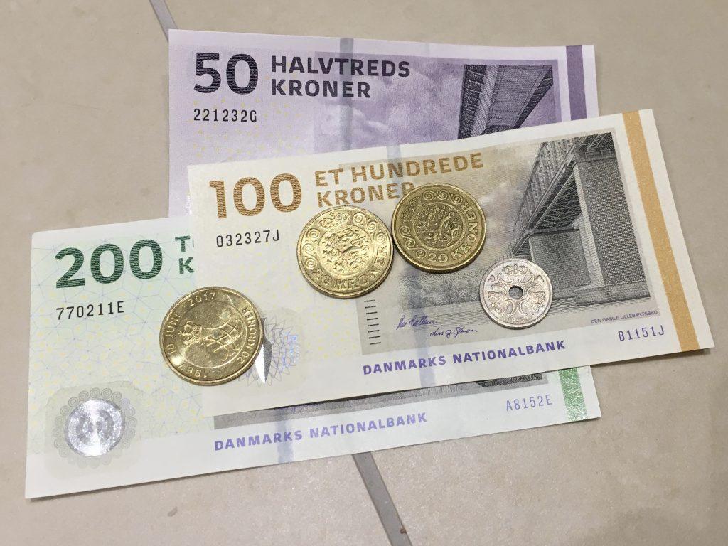 Danish money, Krone, Copenhagen, Denmark