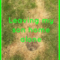 Leaving my son home alone