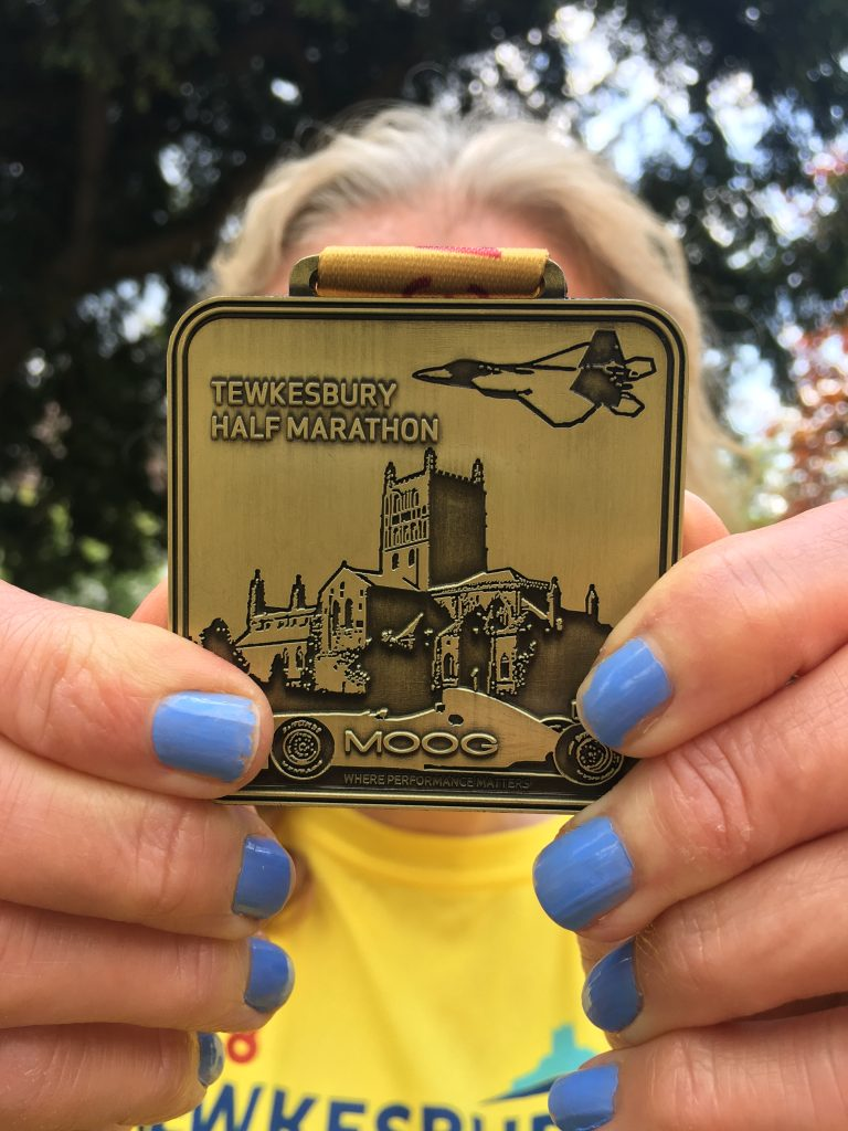 Tewkesbury half marathon, Medal, Silent Sunday, My Sunday Photo, How far did I run in 2018?