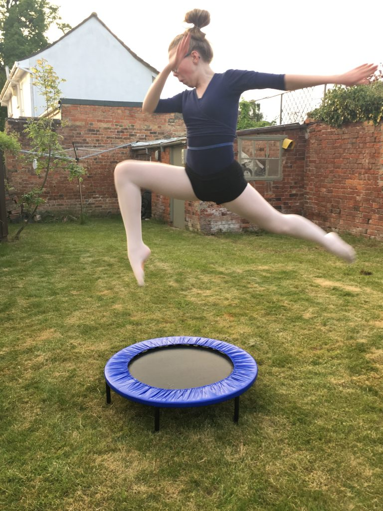 Daughter, Trampoline, Mini trampoline, Gymnastics, Ballet
