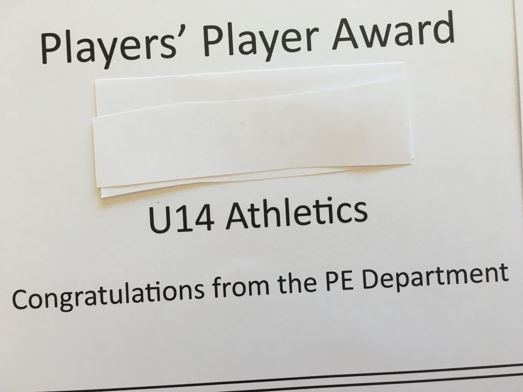 sport, son, certificate, award, players' player award, 365