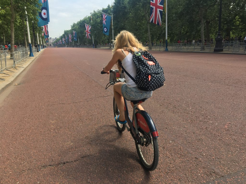 The Mall, London, Cycling, Boris bike, Santander bike, Silent Sunday, My Sunday Photo