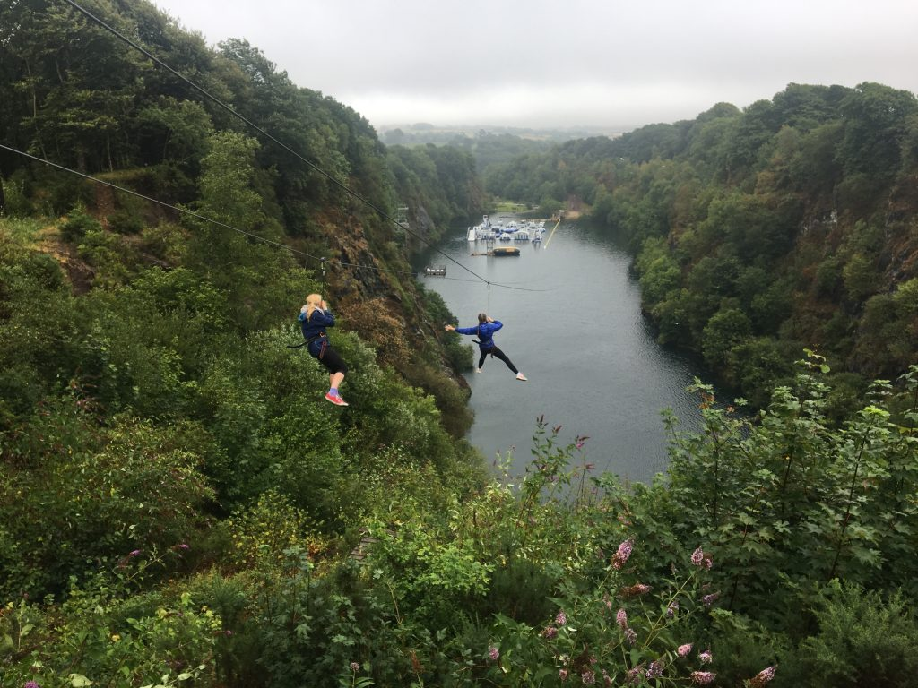 Adrenalin Quarry, Daughter, Zip line, Cornwall, Holiday, 365
