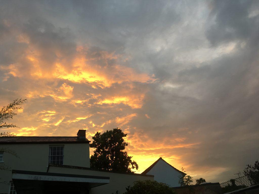 sunset, sky, rain, 365