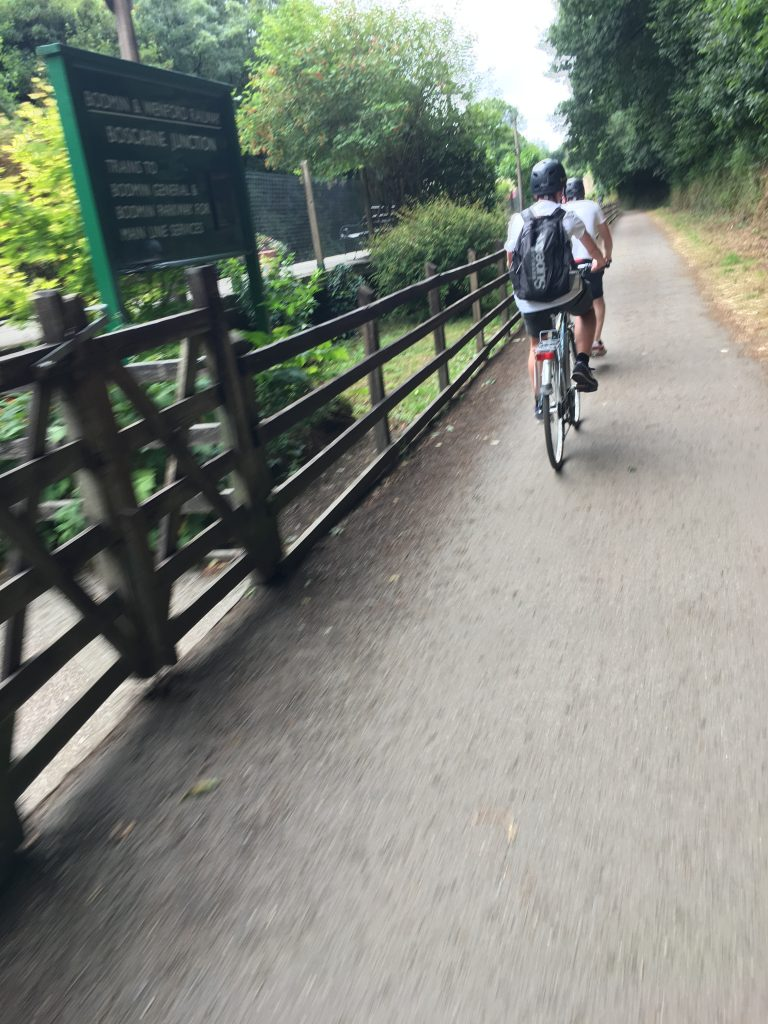 Cycling, Camel Trail, Bodmin, Cornwall, Bodmin steam railway, Son, Camel Trail v South West Coast Path